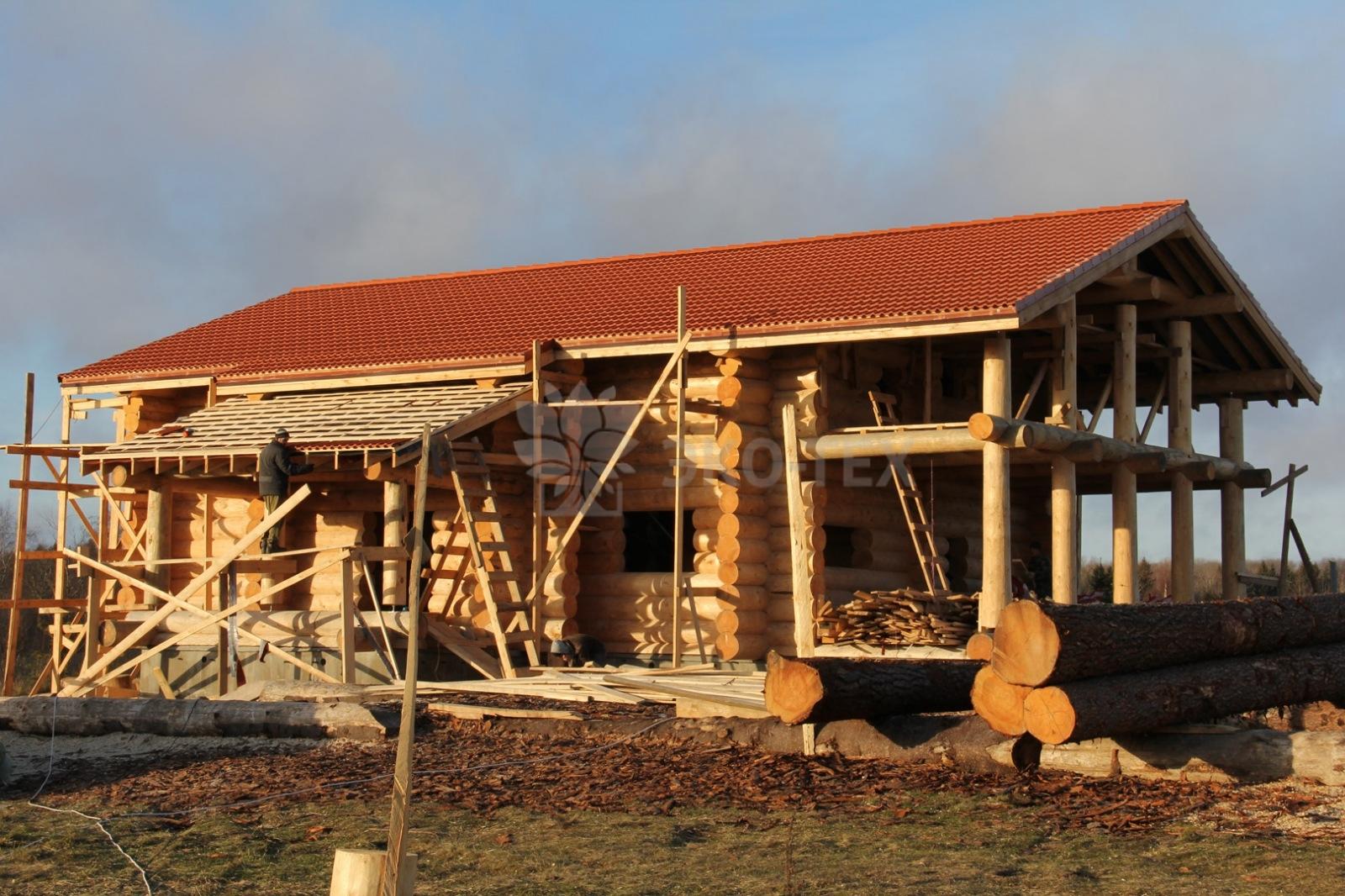 поэтапное строительство деревянного дома фото отметить, что даже