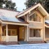 Проект дома Карелия оцилиндрованное бревно
