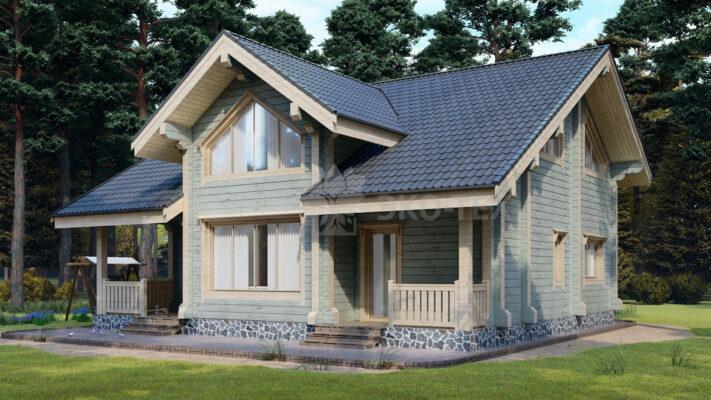 Проект дома Мюнхен клееный брус