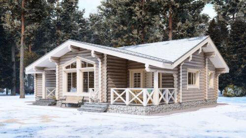 Проект дома Мурманск оцилиндрованное бревно