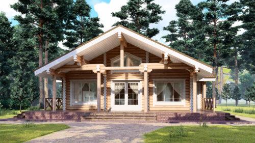 Проект дома Сосновый Бор оцилиндрованное бревно