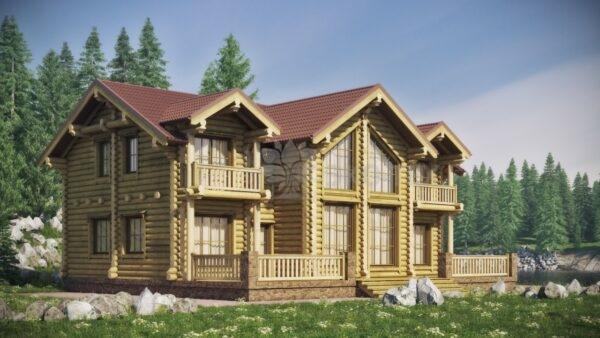 Проект дома Тамерлан оцилиндрованное