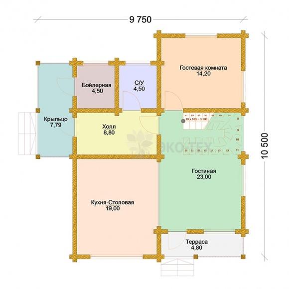 Проект дома XXI век клееный брус