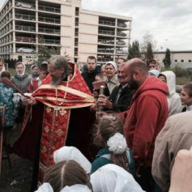 Эко-тех начало строительства часовни Донской иконы Божьей Матери в Люблино