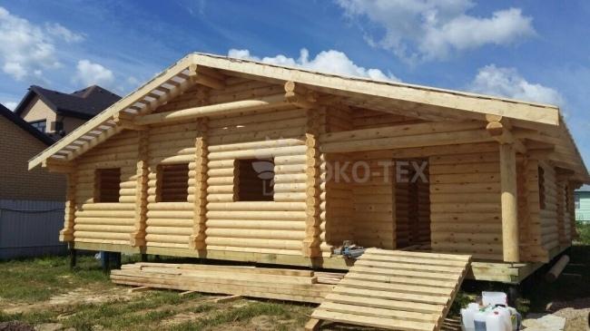 Одноэтажные проекты домов из дерева