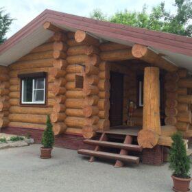 установка срубов домов