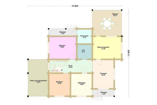 Проект дома Арабески клееный брус
