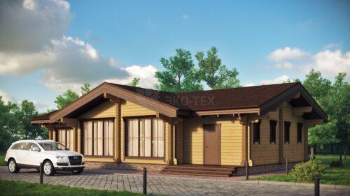 Проект дома Бар клееный брус