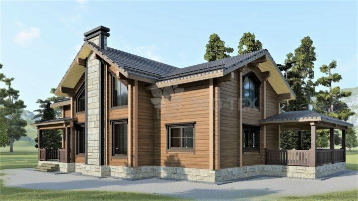 Проект дома Беловежская Пуща клееный брус