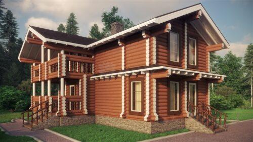 Проект дома Березовая роща оцилиндрованное