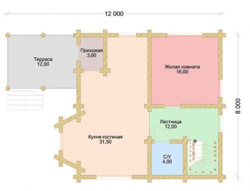 Проект дома Былина оцилиндрованное