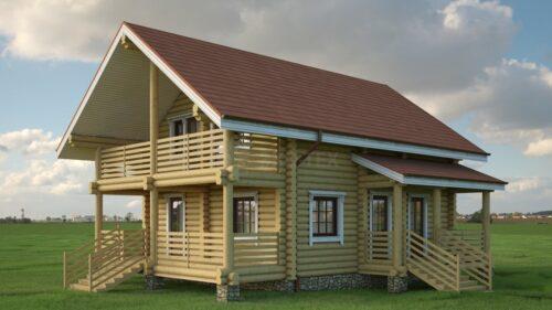 Проект дома Бородино оцилиндрованное