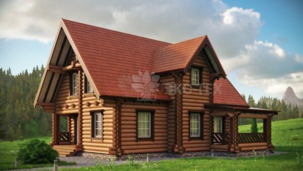 Проект дома Боярыня оцилиндрованное