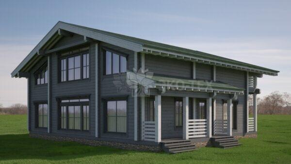 Проект дома Бриз клееный брус