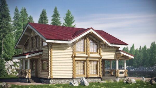 Проект дома Калифорния оцилиндрованное