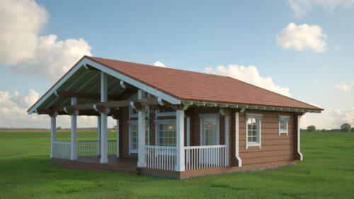 Проект дома Чайный домик клееный брус