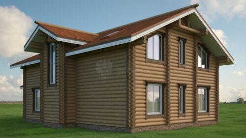 Проект дома Шевалье оцилиндрованное