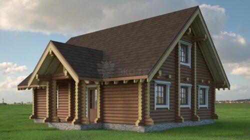 Проект дома Крост оцилиндрованное