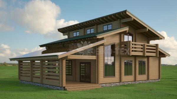 Проект дома Династия клееный брус