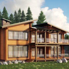 Проект дома Дипломат клееный брус
