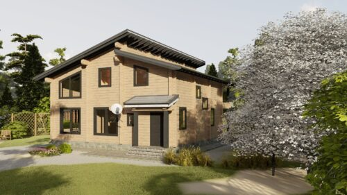 Проект дома Джерси клееный брус