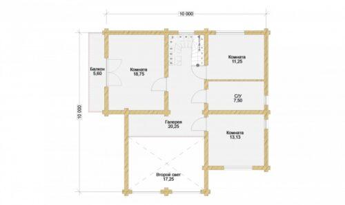 Проект дома Дублин оцилиндрованное