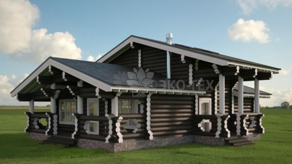 Проект дома Дубрава оцилиндрованное