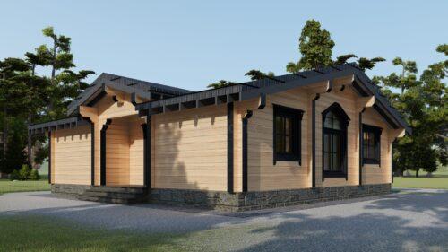Проект дома Эдинбург клееный брус