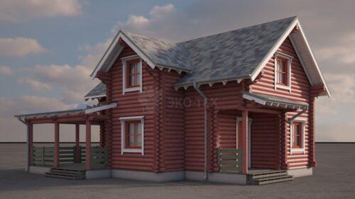 Проект дома Эльф оцилиндрованное