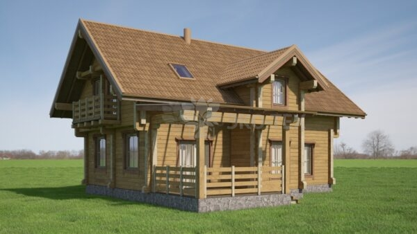 Проект дома Элвин клееный брус