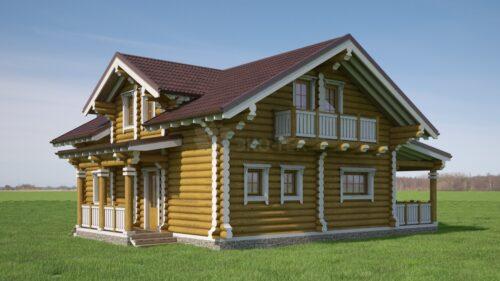 Проект дома Енисей оцилиндрованное