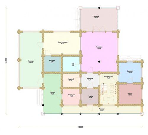 Проект дома Эскалибур оцилиндрованное
