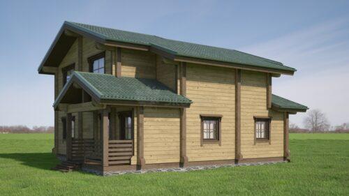 Проект дома Феникс клееный брус