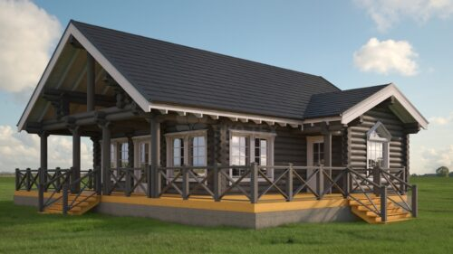 Проект дома Финский дом оцилиндрованное