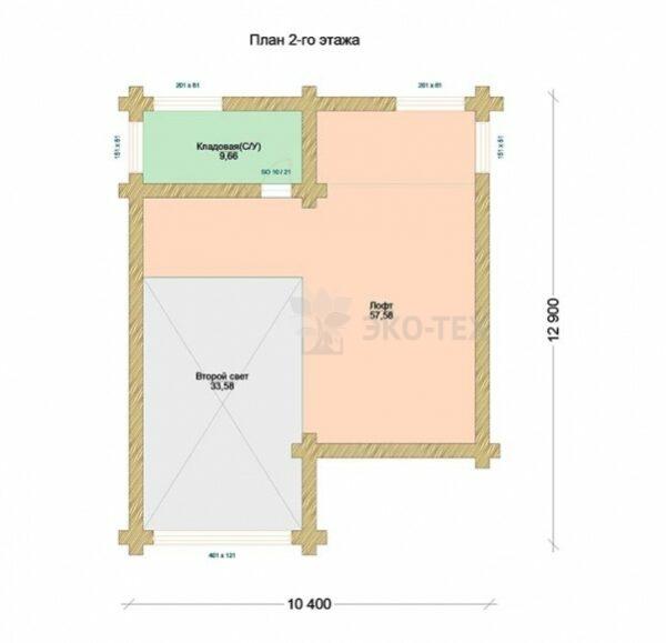 Проект дома Герцог оцилиндрованное