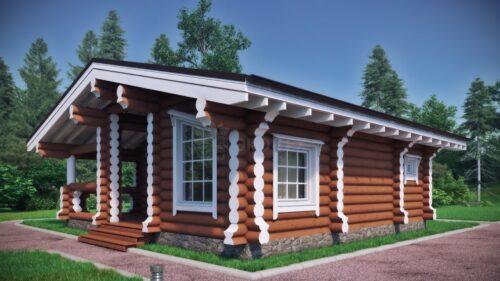 Проект дома Гостевой домик оцилиндрованное бревно