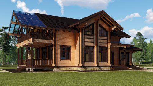 Проект дома Граф клееный брус