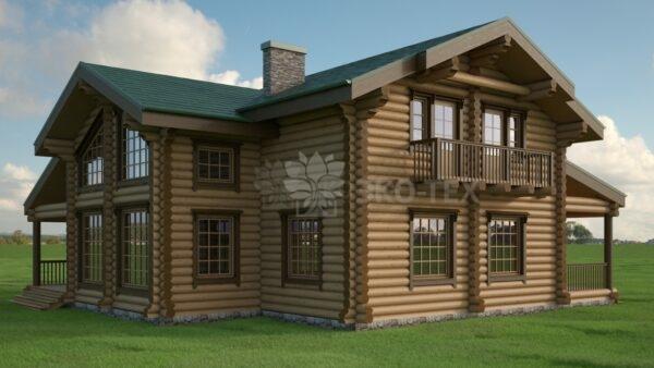 Проект дома Гринфилд оцилиндрованное
