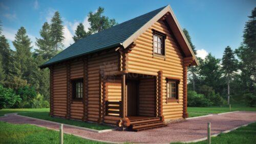 Проект дома Чернигов оцилиндрованное бревно