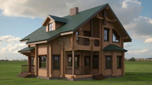 Проект дома Камелия клееный брус