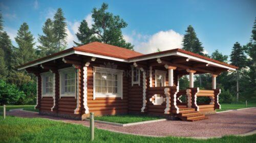 Проект дома Клен оцилиндрованное бревно