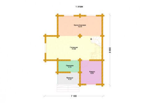 Проект дома Коломна оцилиндрованное