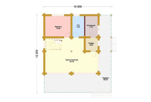 Проект дома Лао Цзы оцилиндрованное