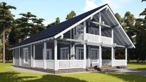 Проект дома Лапландия оцилиндрованное