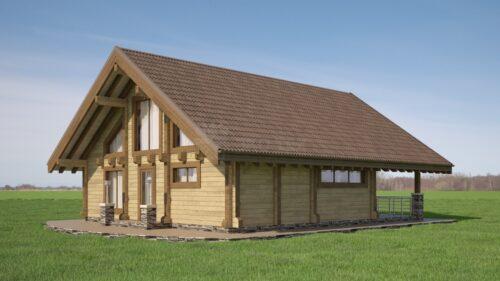 Проект дома Лофт клееный брус