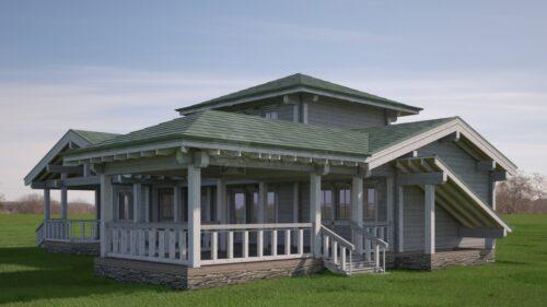 Проект дома Луч клееный брус
