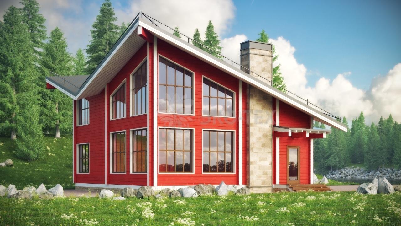 Проект дома Магнолия клееный брус