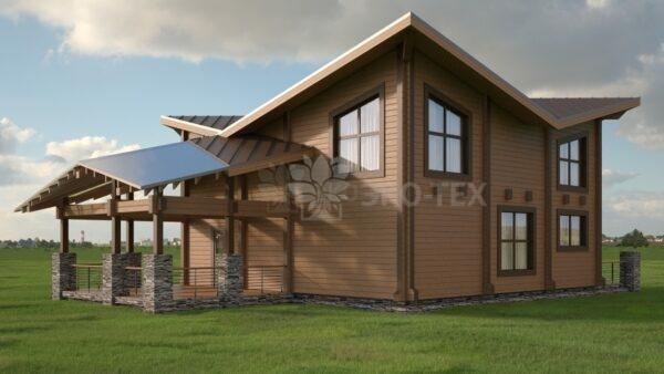 Проект дома Магнолия-Премиум клееный брус
