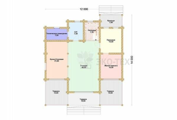 Проект дома Мираж оцилиндрованное