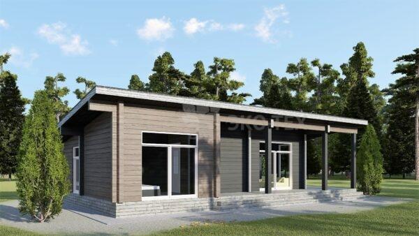 Проект дома Модерн клееный брус